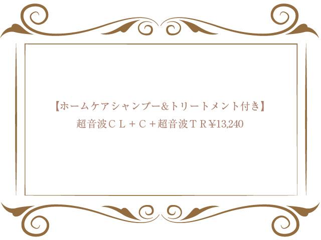 超音波CL+C+超音波TR+ホームケア¥13,240