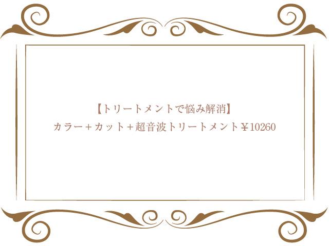 カラー+カット+超音波トリートメント¥10260